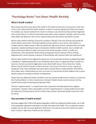 Health Anxiety - Canadian Psychological Association