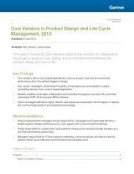 Cool Vendors in Product Design and Life Cycle ... - Stylesight