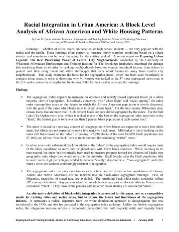 Essay on Racism in America