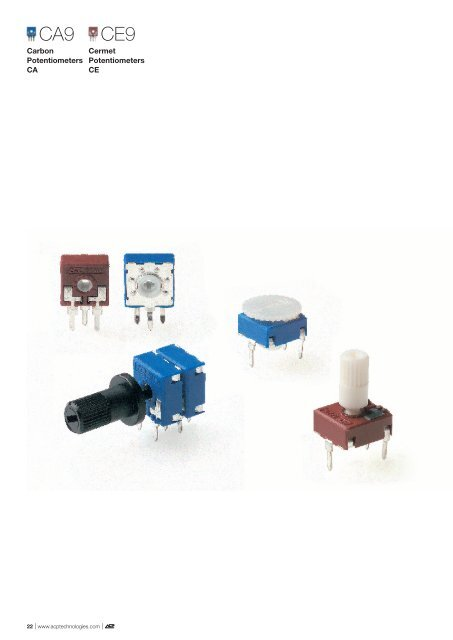 9mm Carbon and Cermet Potentiometers - Diamond Electronics