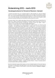 Årsberetning 2012 - HPRD - Hovedorganisationen for Personel af ...