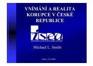 VNÍMÁNÍ A REALITA KORUPCE V ČESKÉ REPUBLICE - ISEA