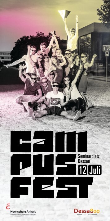 Flyer vom Campusfest - Dessau Department of Design - Hochschule ...