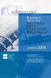Opuscolo rapporto 2008 - Consiglio Regionale della Basilicata