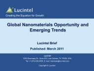 Global Nanomaterials Opportunity and Emerging Trends - Lucintel