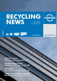 Recycling NEWS 01/2011 - Loacker Recycling GmbH
