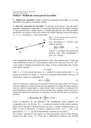 Prática 1 - Gravitação - Departamento de Física