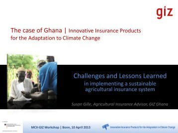 Innovative Insurance Products for the Adaptation to Climate Change