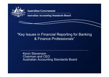 Key Issues in Financial Reporting for Banking & Finance Professionals
