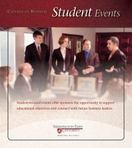 Student Events - College of Business - Washington State University