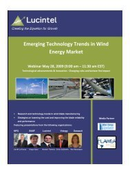 Emerging Technology Trends in Wind Energy Market - Lucintel