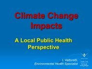 Climate Change and Public Health - Ontario Centre for Climate ...
