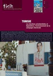 Tunisie : les élections présidentielles et législatives, l ... - FIDH