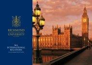 MA InternAtIonAl relAtIons - Richmond - The American International ...