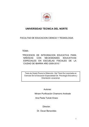 UNIVERSIDAD TECNICA DEL NORTE - Repositorio UTN ...