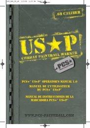 PCS™ USP™ OPERATOR'S MANUAL 1.0 Manuel de l'utilisateur du ...