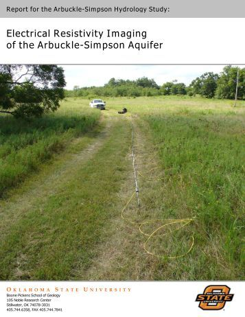 Electrical Resistivity Imaging of the Arbuckle-Simpson Aquifer