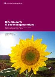 RISORSE EnERGETICHE biocarburanti di seconda generazione