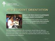 Online Orientation - Glen Oaks Community College