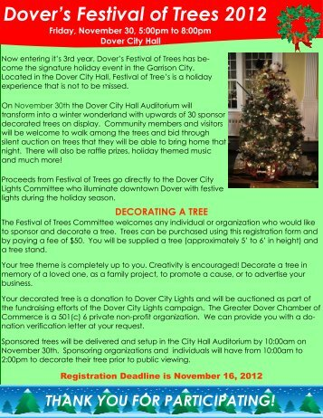 Dover Festival of Trees Participation Flyer Mikes draft