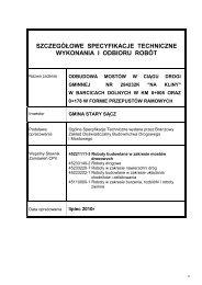 szczegółowe specyfikacje techniczne wykonania i odbioru robót