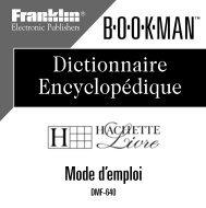 Dictionnaire Encyclopédique - Franklin Electronic Publishers