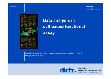 Data analysis in cell-based functional assay