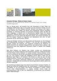 Unwanted Heritage/Moderne Heimat Leipzig - Büro Kopernikus