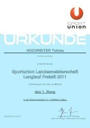 Urkunden Startnummer 31 - Sportunion Eidenberg