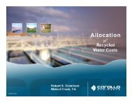 Allocation of Recycled Water Costs