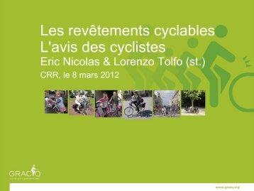 L'avis de cyclistes - CRR