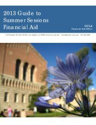 2013 Guide to Summer Sessions Financial Aid - UCLA Financial Aid ...