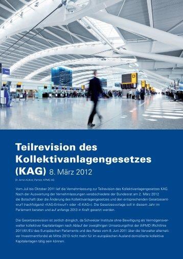 Teilrevision des Kollektivanlagengesetzes (KAG) - KPMG