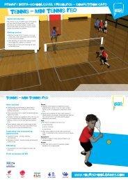tennis - mini tennis red - School Games