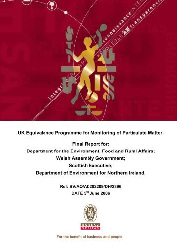 UK Equivalence Programme for Monitoring of ... - UK-Air - Defra