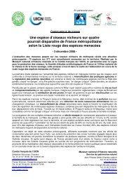Liste rouge des espèces menacées en France