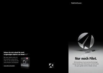 """Download Broschüre """"Nur noch Filet"""""""