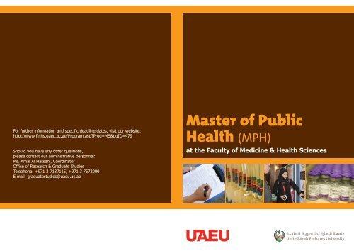 Master of Public Health (MPH) - College of Medicine and Health ...
