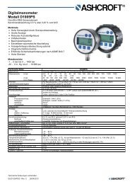 Datenblatt D1005PS - Ashcroft Instruments GmbH