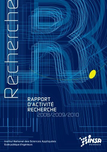 Rapport d'activité Recherche 2008-2010 - INSA Rennes