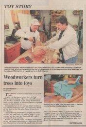 Gazette-Mail December 23, 1997 - Valley Woodworkers