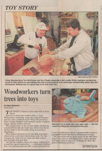 Gazette-Mail December 23, 1997 - Valley Woodworkers