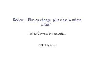 """Review: """"Plus ça change, plus c'est la même chose?"""" - Kai Arzheimer"""