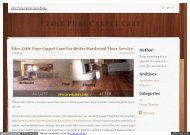 Hire 24Hr Pure Carpet Care For Better Hardwood Floor Service