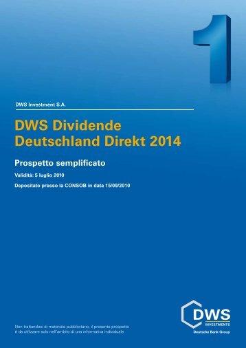 DWS Dividende Deutschland Direkt 2014 Prospetto - Fundstore