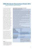 DWS Dividende Deutschland Direkt 2014 Prospetto - Fundstore - Page 5