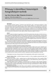 Přístupy k identifikaci historických fotografických technik - arte-fakt