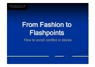 From Fashion to From Fashion to Flashpoints - Retail Knowledge