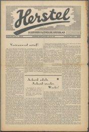 Herstel (1940) nr. 22 - Vakbeweging in de oorlog