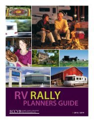 RV Rally Planners Guide - Amish Country